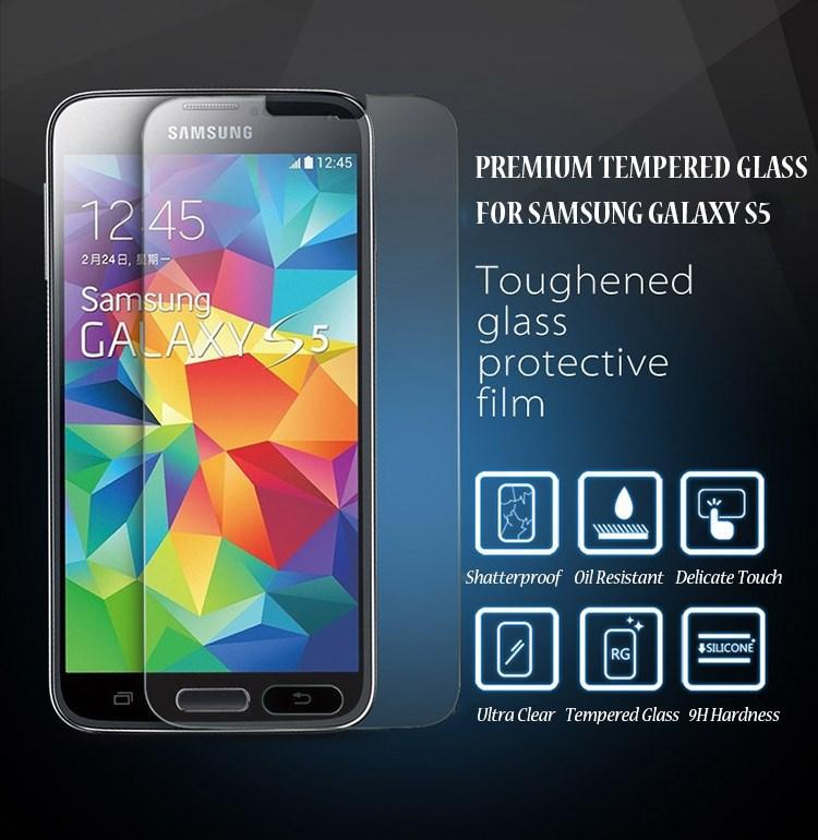 Гаджет  Explosion Proof Premium Tempered Glass Film Screen Protector For Samsung Galaxy S5 i9600 G900F Shatter None Телефоны и Телекоммуникации