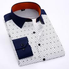 New Arrival High Quality Men Clothing Mens Fashion Print Shirts Men Long Sleeve Dress Shirts Mens Slim Fit Casual Shirt(China (Mainland))