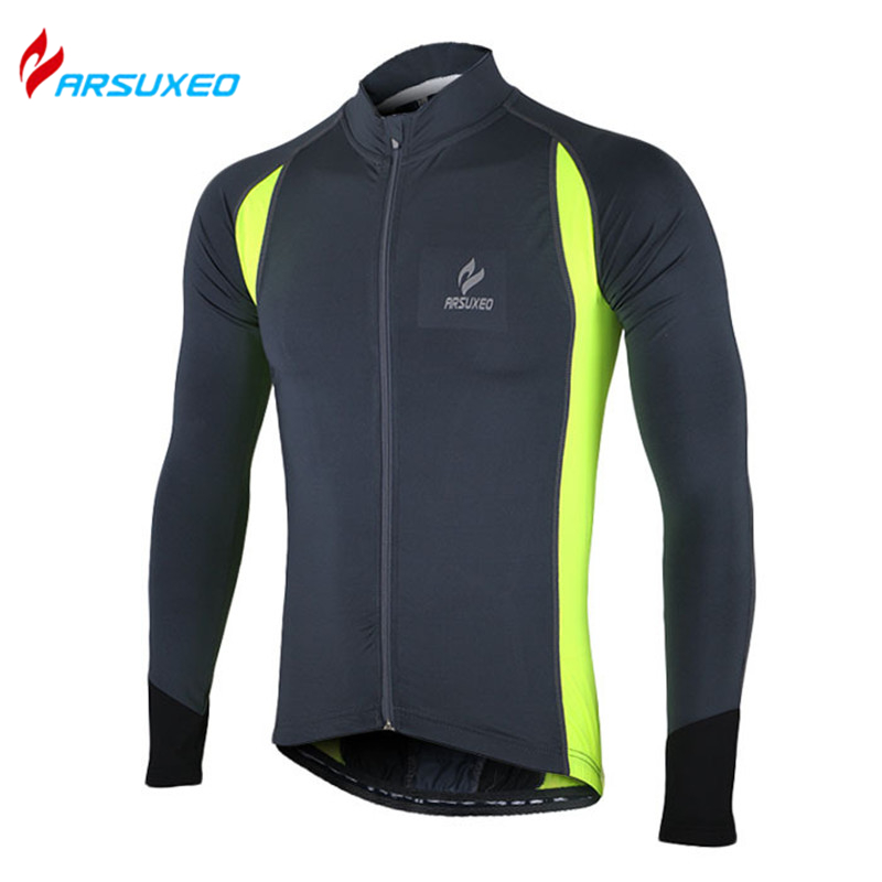 ARSUXEO Professional MTB Road Bike Bicycle Running Quick Dry Sportswear Men's Long Sleeve Cycling Jersey Outdoor Sports Clothing(China (Mainland))