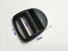 50pcs/lot 1 inch 25mm black plastic adjustable buckles Tri Glide slider buckles backpack straps webbing 2016060601(China (Mainland))