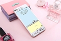 Cartoon cute Panda carbon fiber Tempered Glass film Protective for iPhone 6 case 6S 6 Plus
