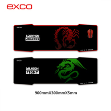 new arrived hot selling big cloth rubber large long professional gaming mouse pad Red Scorpio pad to mouse with locking edge(China (Mainland))