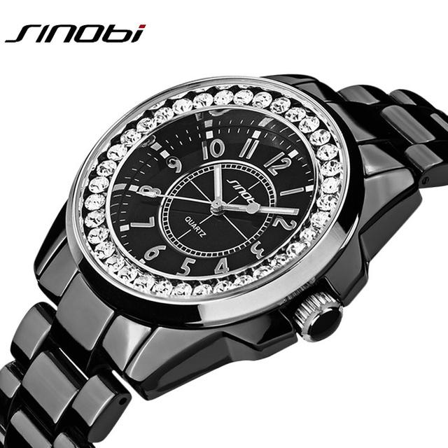Sinobi роскошные платья мода часы женщина дамы золото алмаза relogio feminino платье часы женский relojes mujer 2016