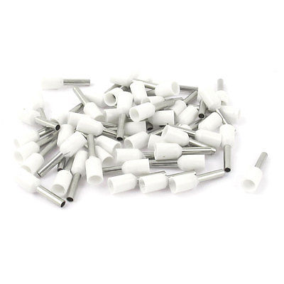 50Pcs E1508 16AWG Wire Crimp Insulated Ferrule Cable Cord End Terminal White(China (Mainland))