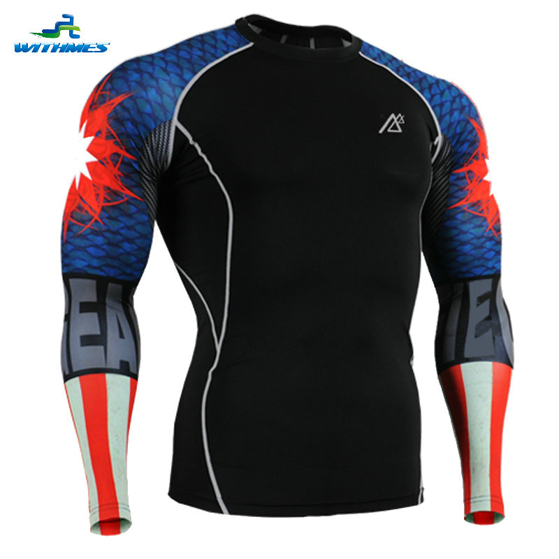 CPD-B37 USA American Body Building Volleyball Shirt Football Jerseys Boys Indoor Sportswear Skin Workout Clothing Triathlon Tops(China (Mainland))
