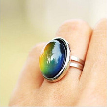 Buy 2016 Crystal Jewelry Changing Color Mood Ring Temperature Emotion Feeling RINGS MOOD Adjustable Size Gifts event party Supplies for $1.28 in AliExpress store