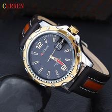 2015 Hot CURREN 8104 Men Watches Top Brand Luxury Wristwatches Men Military Leather Sports Watch Auto
