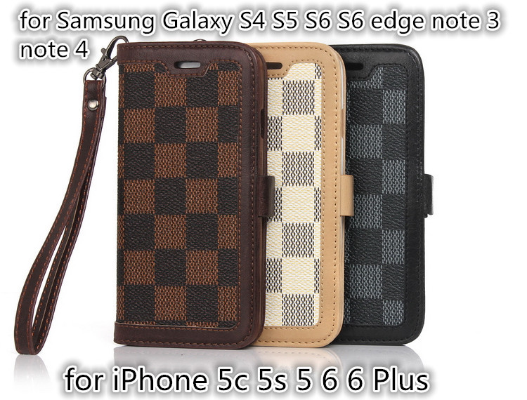 Nuevo movil funda carcasa telefono movil capa para case for iPhone 5 5s 5c 6 6 Plus with lanyard best leather cover case(China (Mainland))