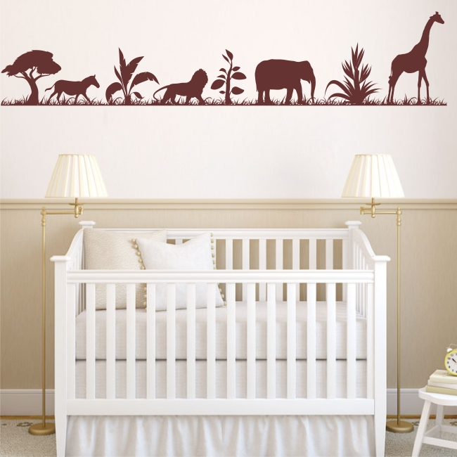 Removable Nature Zoo Animal wall sticker Vinly Wall Decal Wall Art Home Decor