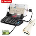 Remax Universal 1 Phone Holder 1 Car Charger Set Mobile Holder 3 USB Car Charger Magnet