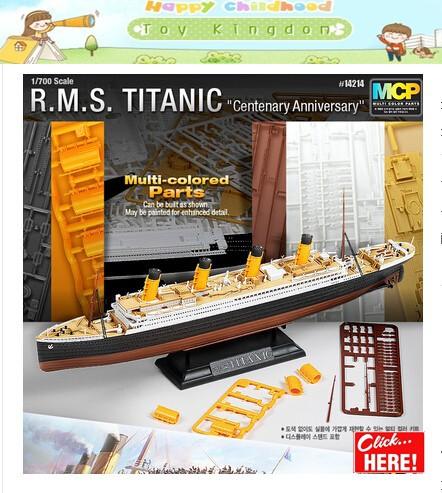 1:700 Titanic kit passenger liner ship model toy free shipping Titanic model ship romantic souvenir BOAT Birthday gift world cup(China (Mainland))