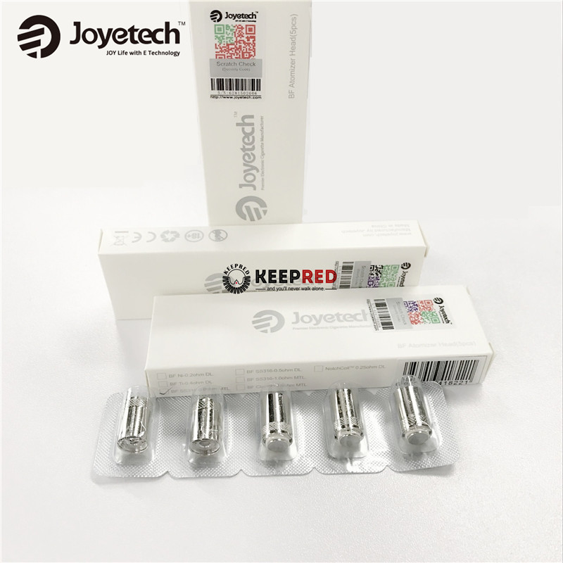 100% Original Joyetech 0.6ohm BF SS316 Stainless Steel Replacement Coil Head 0.5ohm / 1.0ohm / 1.5ohm / 0.25ohm coils 10pcs/lot(China (Mainland))