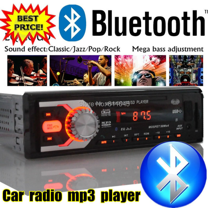 New 12V Car Stereo FM Radio MP3 Audio Player Support Bluetooth Phone with USB/SD MMC Port Car Electronics In-Dash 1 DIN 1131B<br><br>Aliexpress