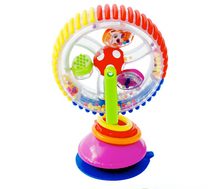 Baby tricolor multi-touch rotating Ferris wheel toy early creative educational toys with suction cups(China (Mainland))