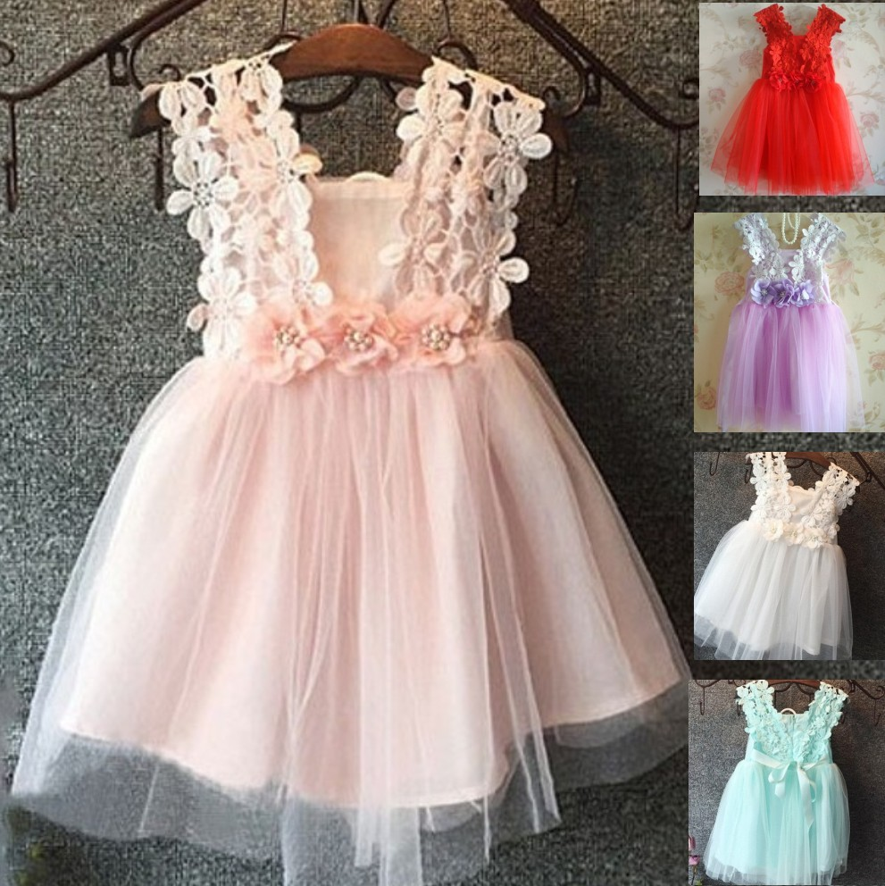 EMS DHL Free Shipping toddlers Little Girls Lace Dress Summer Dress Princess Dress 3 Colors 2-7 Years<br><br>Aliexpress