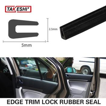 """79"""" 200cm 6.6ft Black 5x2.5mm U Channel Car Auto Truck Edge Flexible Rubber Trim Edge Strip Glass Run & Division Bar Seal #55"""