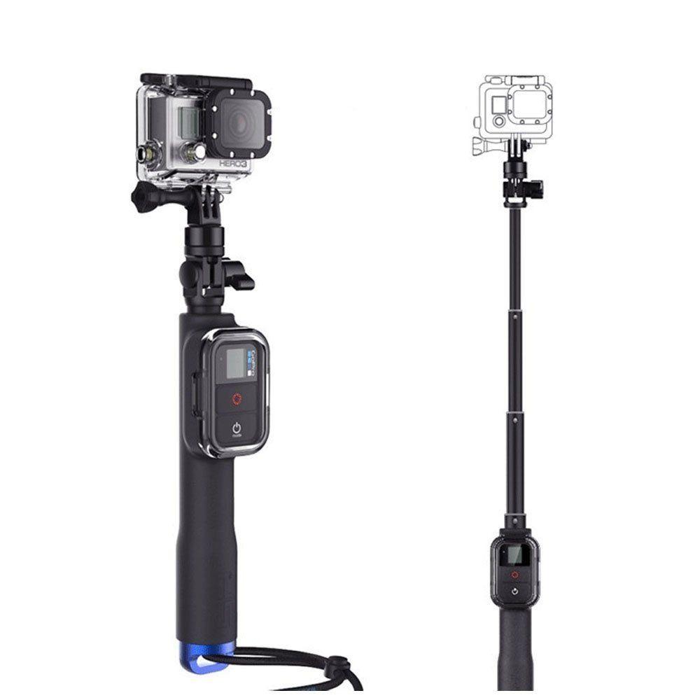 39 inch extendable handheld selfie stick monopod for gopro hero 5 4 session 3. Black Bedroom Furniture Sets. Home Design Ideas