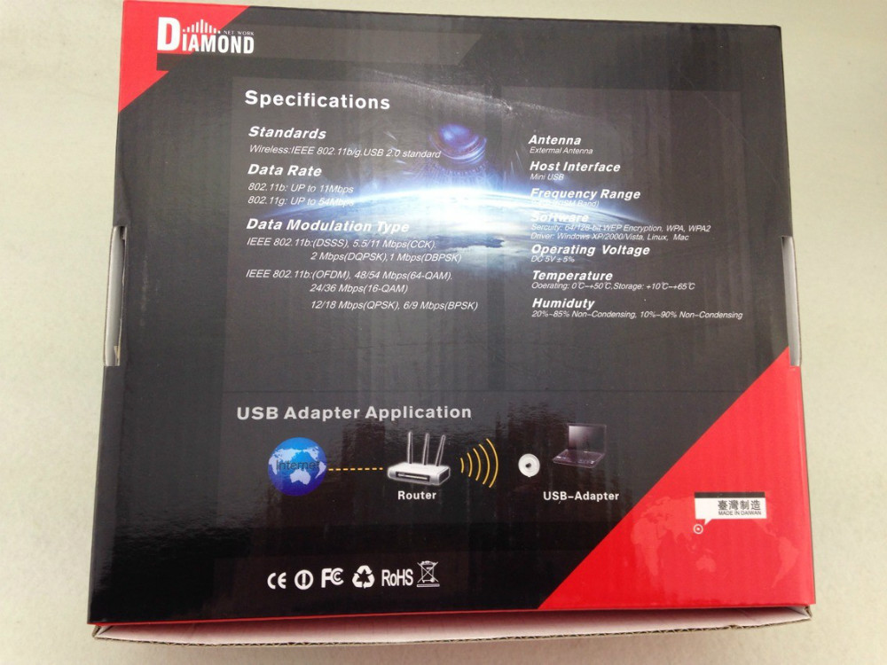 Factoryprice Adaptador Nano Black Diamond Transformers X3080 54Mbps 36DBI 3800mW 802.11b/g USB Wifi adaptor computer accessories<br><br>Aliexpress