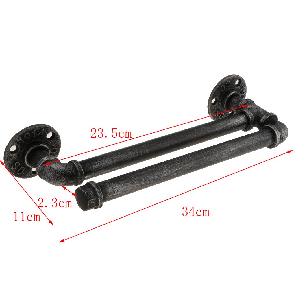 Industrial Style Black Towel bar Stemware Glass Rack Holder Rail Under Cabinet Wall Shelf Hanger 3-4Pcs Glasses Holder Hanger