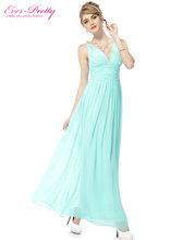 Evening Dresses Ever Pretty HE09016 Vestido De Renda Long Elegant Dresses New Arrival Sweep Train Empire Rushed Double V-neck(China (Mainland))