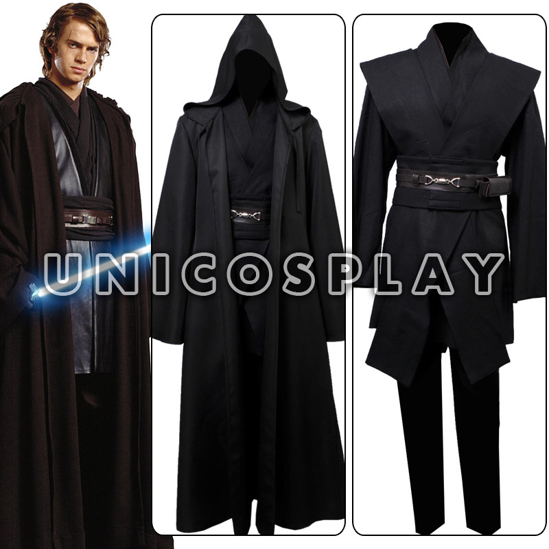 star wars anakin skywalker cosplay costume black version custom made free shipping in clothing. Black Bedroom Furniture Sets. Home Design Ideas
