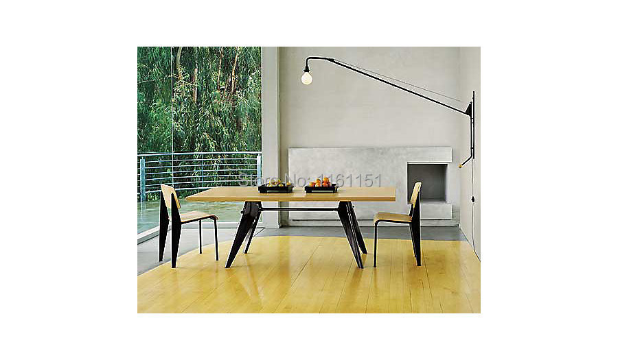acheter livraison gratuite gros 6067l replica jean prouv potence petite lampe. Black Bedroom Furniture Sets. Home Design Ideas