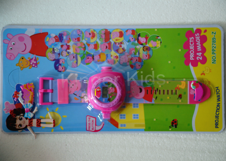 1 lot(8pcs) Children's gift cartoon-watch toy watch 24 kinds of Projection wholesale or drop-shipping