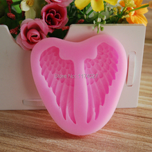 Free shipping Beautiful Angel Wings Silicone mold silicon cake mould Fondant Decorating Tools kitchen accessories