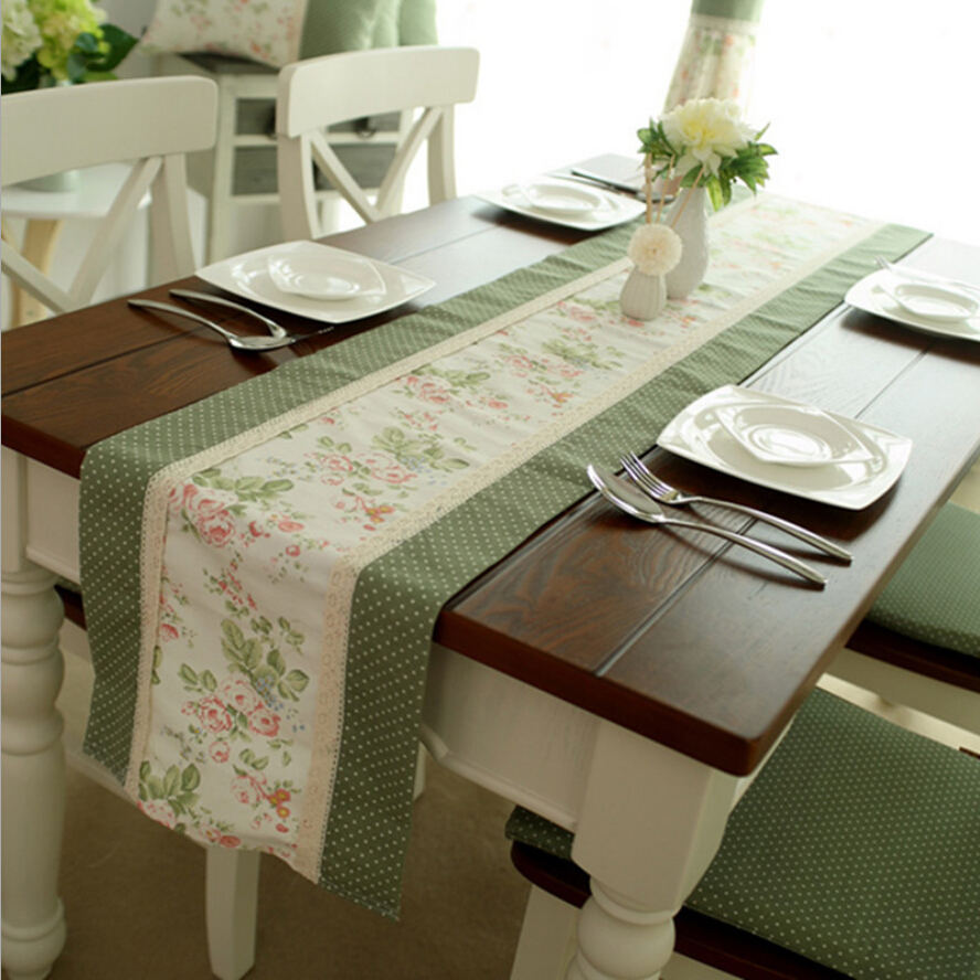 Wholesale 6pcs top european patchwork fabric table runner for Table runner