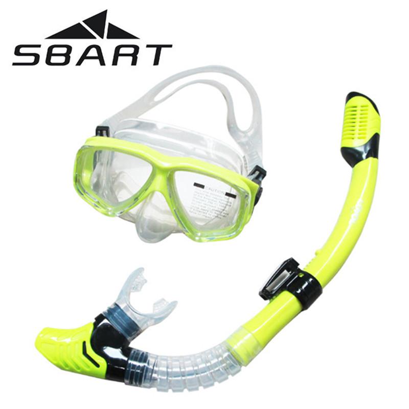 SBART Water Sports Training Snorkeling Swimming lasses Equipment Anti-Fog Silone Scuba Diving Mask oggles Full-dry Snorkel(China (Mainland))