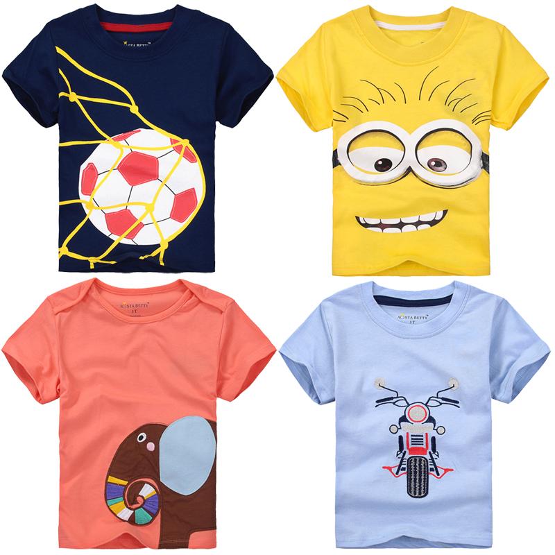 2016 summer,baby boys t shirt,kids t-shirt,minions,soccer,cartoon,bombeiro,dinosaur,moletom,camiseta infantil menino,0-7Y(China (Mainland))