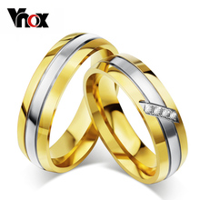Buy Vnox Trendy Wedding Ring 316l Stainless Steel Metal CZ Zircon Stone Finger Jewelry for $2.74 in AliExpress store