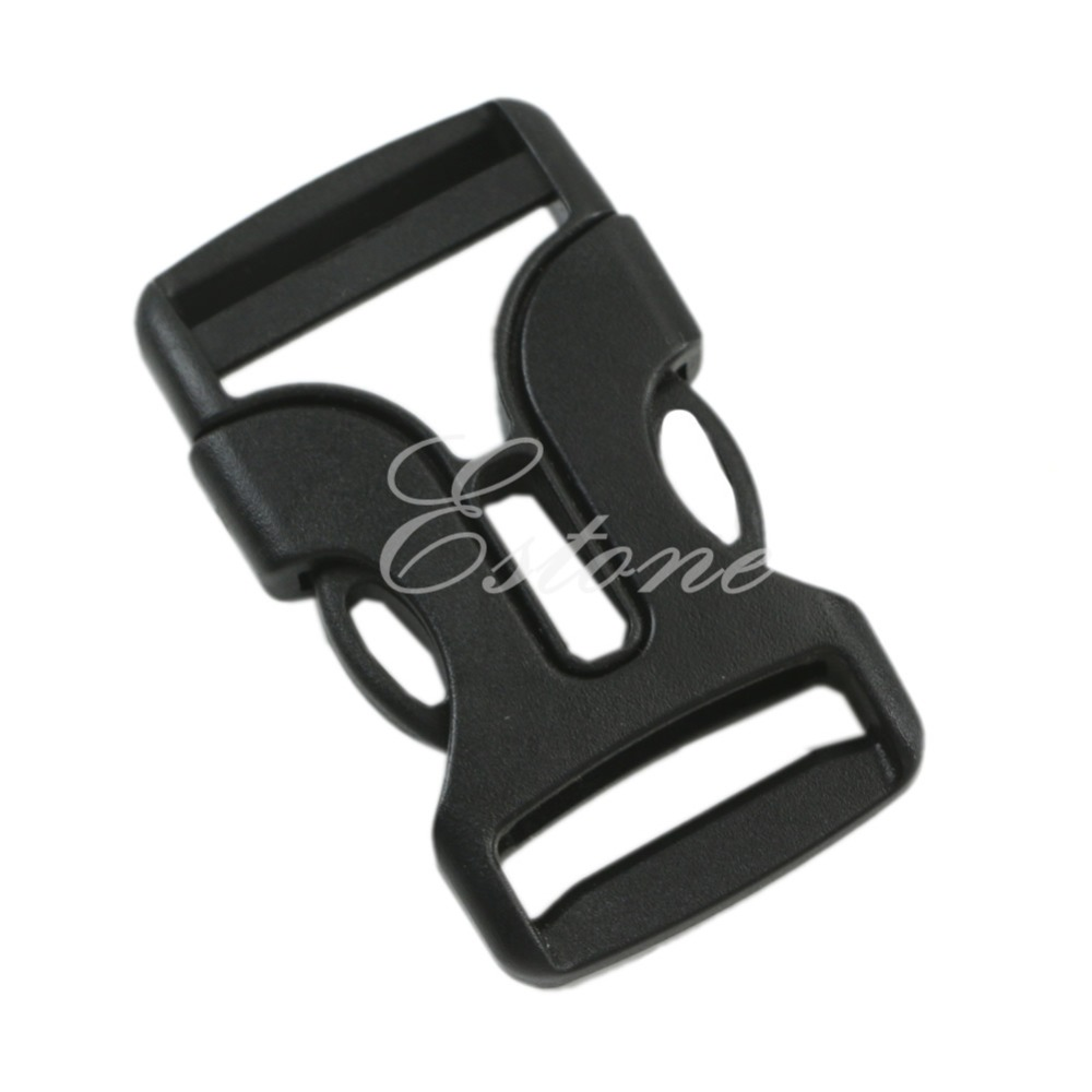 New 2Pcs Black Plastic Buckles Webbing Strap 25mm Side Quick Release Clasp Craft(China (Mainland))