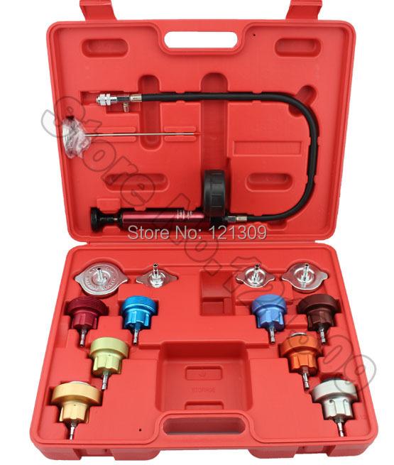 14PC Car Tool Universal Water Tank Detector Radiator COOLING SYSTEM Pressure Tester Kit(China (Mainland))
