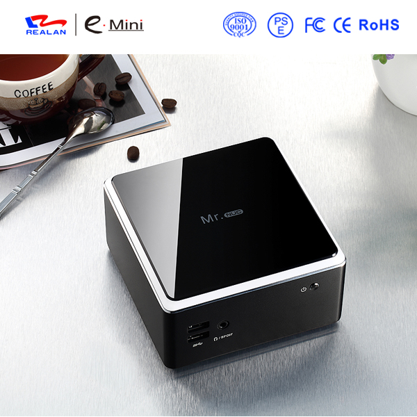 8GB RAM 128GB SSD Mini pc windows 1080p hdmi, brand quad core Industrial Mini PC of latest design thin client wifi/Bluetooth(China (Mainland))
