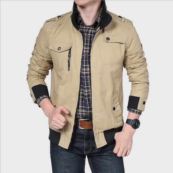 New fall fashion men's casual cotton jacket Slim men's coat water washing(China (Mainland))