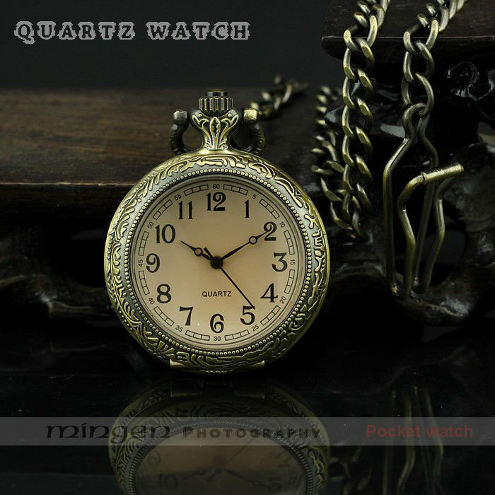 Free shipping,Leisure Tinted glass &amp; Bronze quartz Pocket watch,Men Gift,(S223),watch Paper box packing<br><br>Aliexpress