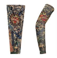 2pc=1pair Tattoo sleeves halloween long arm Oversleeve cuff temporary tatoo arm warmers body art cycling harajuku arm sleeves(China (Mainland))