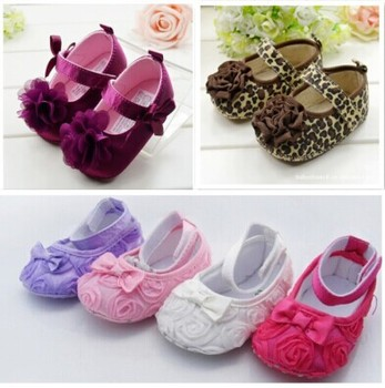 Cute Crib Shoes PreWalkers First Walker Brown Leopard Flower Small For Baby Girl Kids