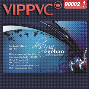 PVC Card /  paper business card a9002  Template for  200pcs Clear PVC card with Single faced Printing