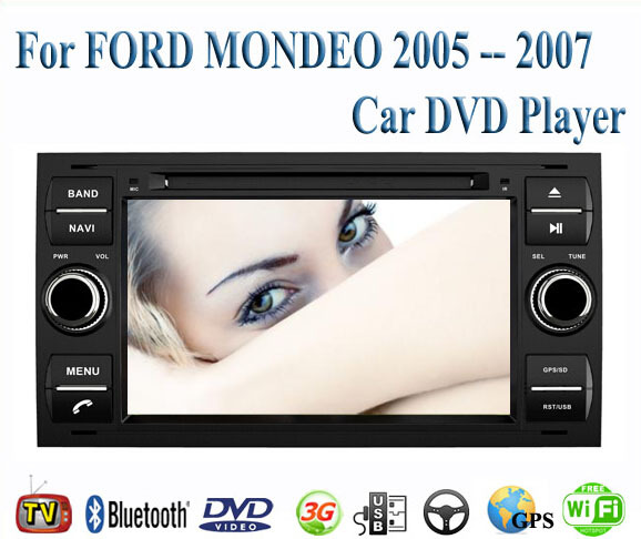 2 Din Car DVD Player Fit FORD MONDEO 2005 2006 2007 GPS TV 3G Radio WiFi Bluetooth Wheel contol(China (Mainland))