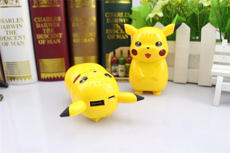10000mah Pikachu Pokemon power bank Charger Suitable for all phones Custom Game Pikachu Pokemon power bank With Retail Box p10