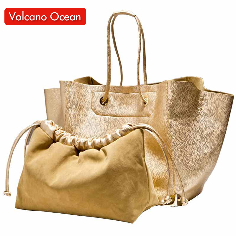 Luxury Gold High Quality Designer Handbag For Women Fashion PU Leather Lady Silver Purses 2015 Famous Brand NEW Black Tote Bags(China (Mainland))