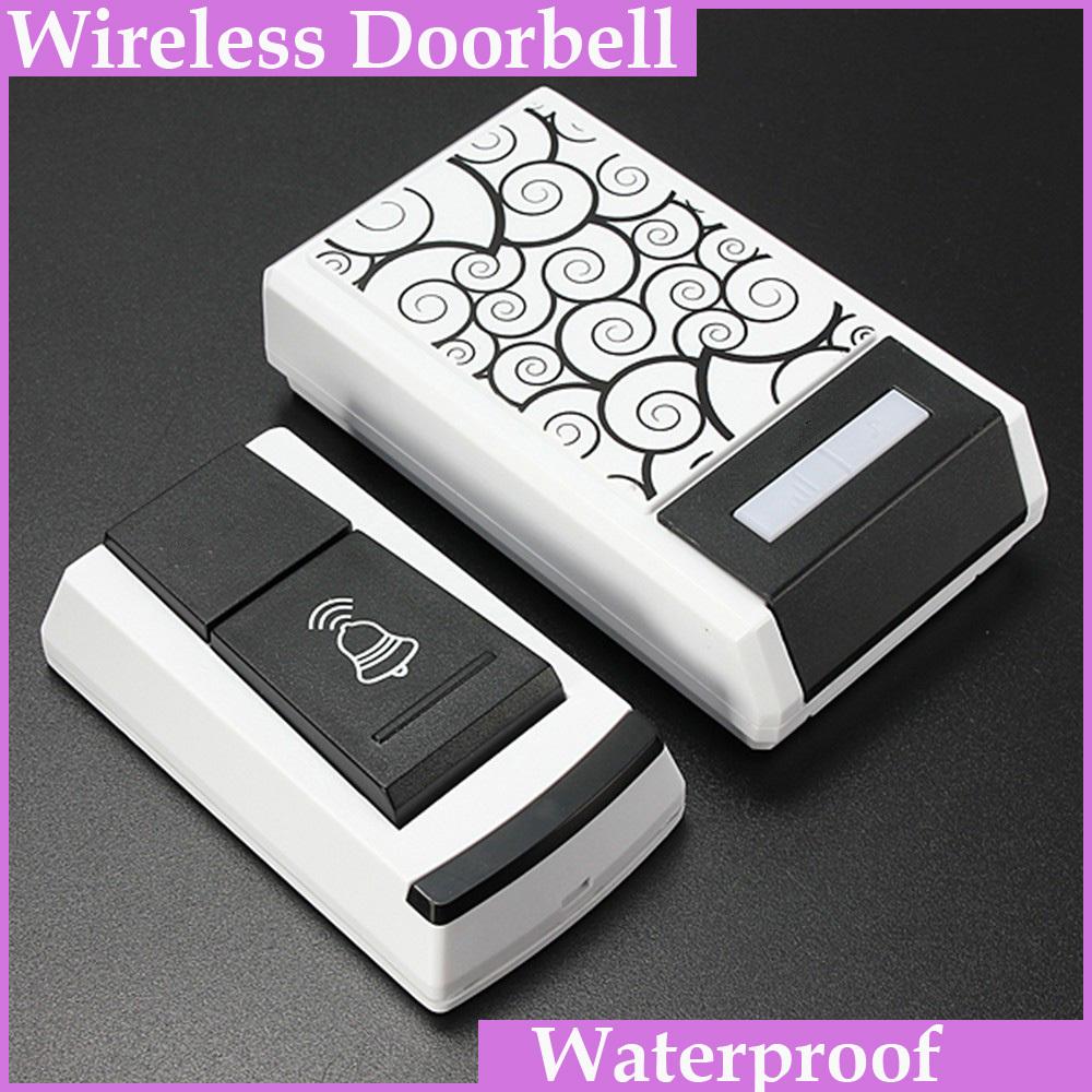 New Waterproof 100M Range 36 Tones Wireless Door bell Digital LED Doorbell Home Security Remote Control Button bell(China (Mainland))