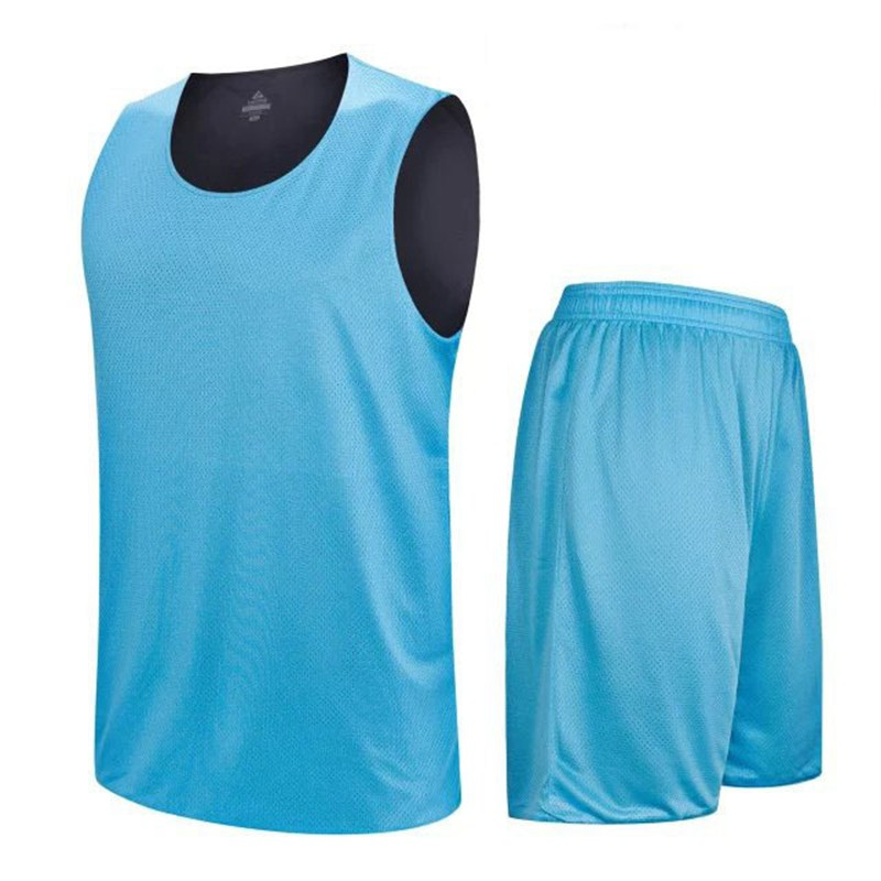 HOT Reversible jersey Double sided Sleeveless Shirts Suit professional Sportswear basketball jerseys Quick Dry set Tops and shor(China (Mainland))
