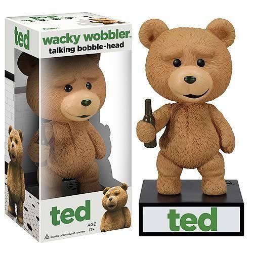 FUNKO Ted Wacky Wobbler Bobble Head PVC Action Figure Toy Free Shipping(China (Mainland))