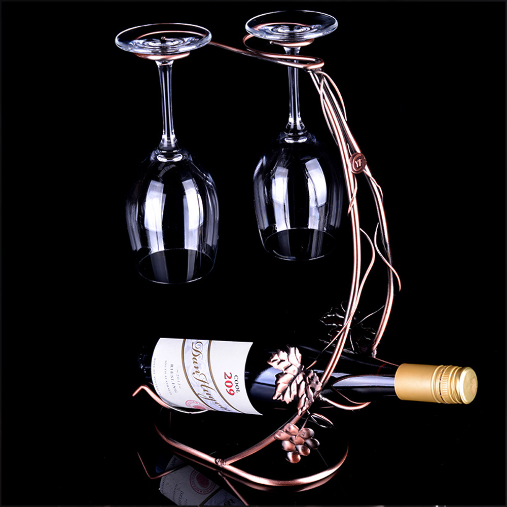Popular grape vine wine rack buy cheap grape vine wine rack lots from china grape vine wine rack - Wire wine bottle carrier ...