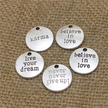 Buy PULCHRITUDE 30pcs 20mm Alphabet Letters mix Charms Vintage Metal Zinc Alloy Round Trendy Charms Jewelry D0537 for $4.32 in AliExpress store