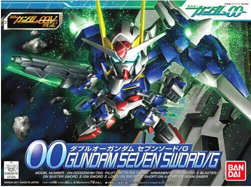 Bandai Gundam model SD/Q authentic version of BB 368 OO 00 Swords/G /7 Gundam seven sword(China (Mainland))