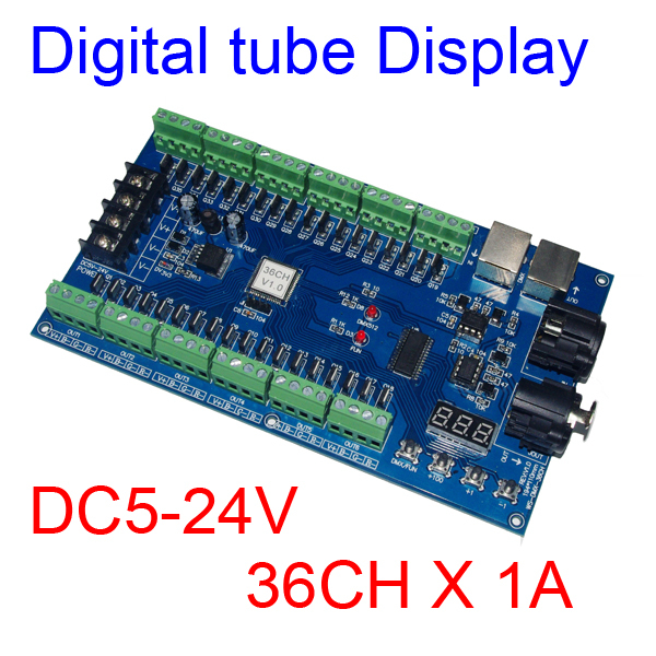 Easy 36CH DMX512 dimmer Controller,36 channel DMX decoder 13 group RGB output,LED Driver - Shenzhen Jinzhi LED Technology Co.,Ltd store